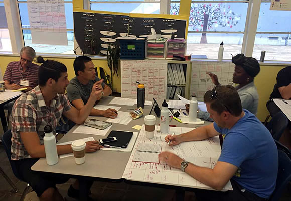 Educators collaborating