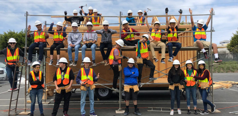 Tiny House Project Brings Together Da Vinci Students, Staff, Mentors, Industry & Higher Ed Partners