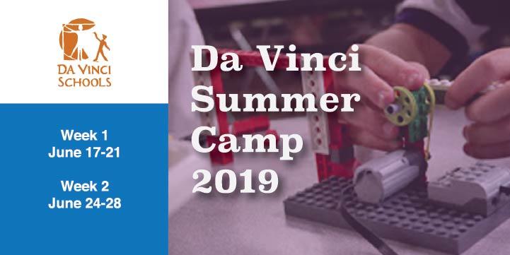 Explore, Design, Tinker, Create at Da Vinci Summer Camp 2019