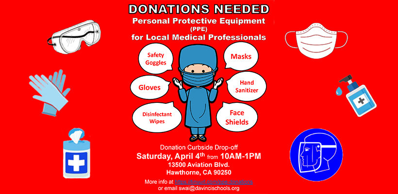 Accepting Medical Equipment Donations – April 4th